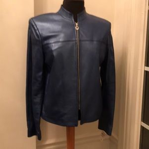 NWT ST. JOHN SPORT LEATHER JACKET